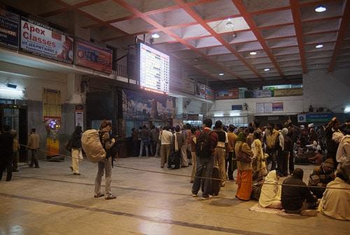 La estación de tren de Varanasi