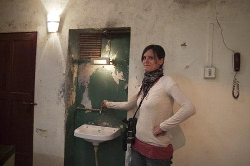 Un lavabo en la misma escalera!