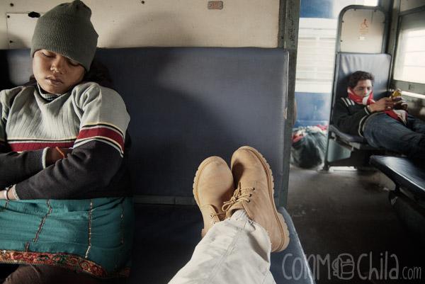 Cada uno a su rollo en el tren