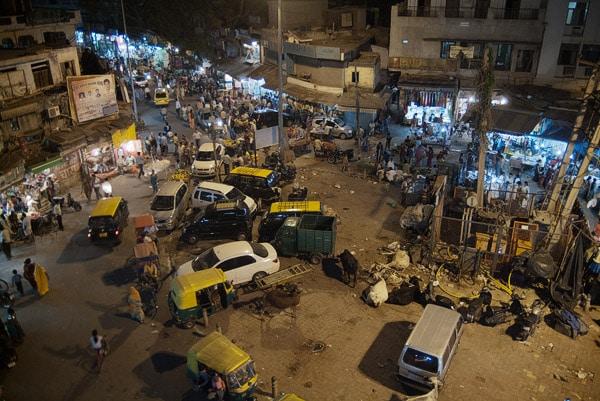 Vista de la plaza de Main Bazar