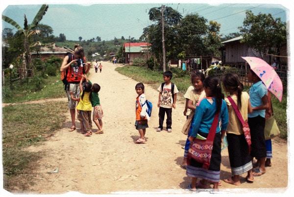 Uno de nuestros mejores momentos de nuestro viaje a Laos