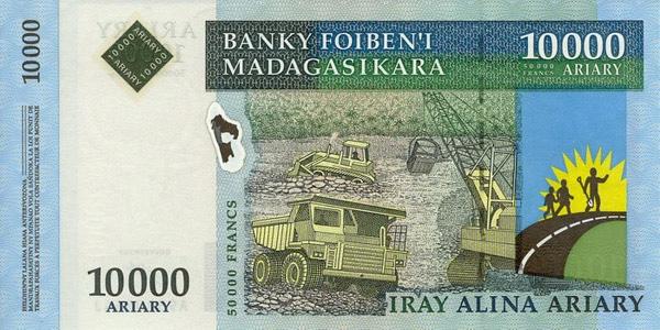Billete 10000 ariary (delante)