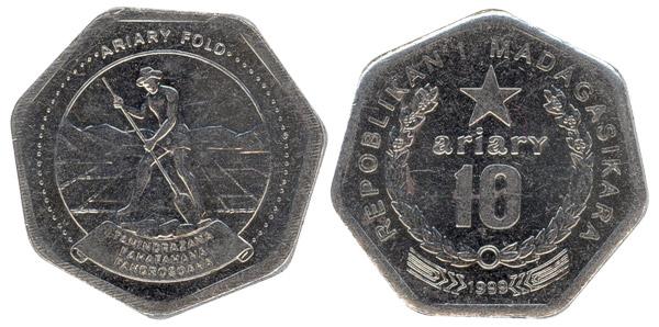 Moneda 10 ariary