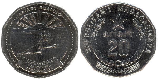 Moneda 20 ariary