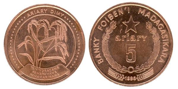 Moneda 5 ariary