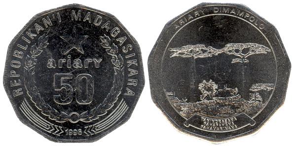 Moneda 50 ariary