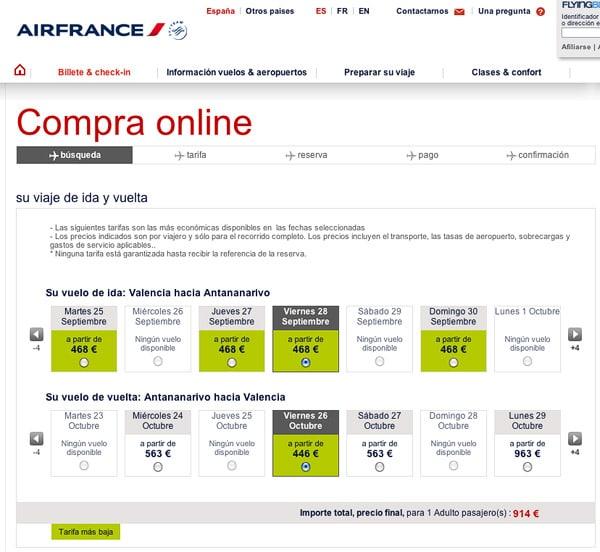Consejos para conseguir vuelos baratos a madagascar for Vuelos de paris a barcelona