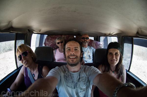 Con el grupo que hicimos el tour