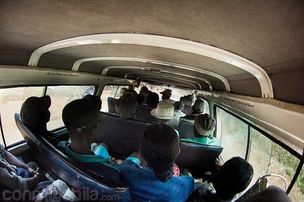 Nuestra vista del taxi-brousse