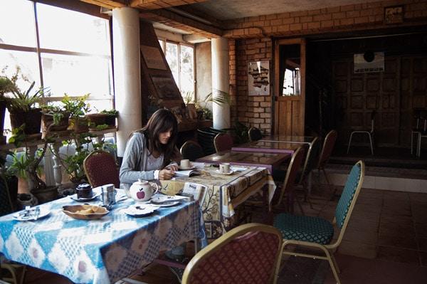 Comedor del hotel con su ventanal