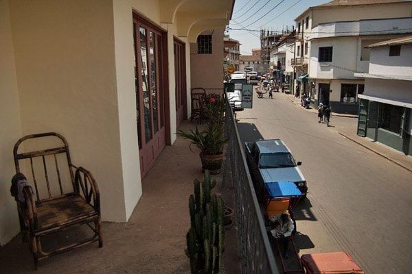 Vistas de la calle desde la terraza