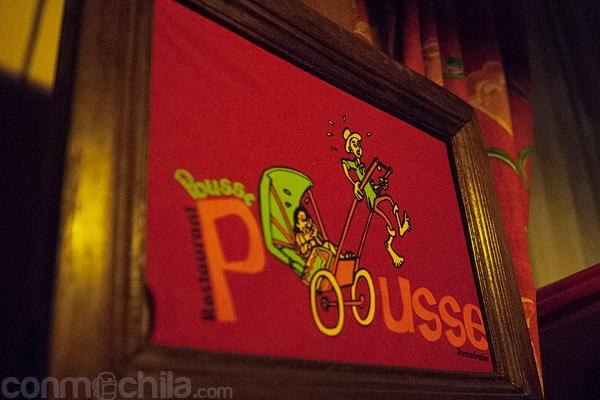 El logotipo del pousse-pousse