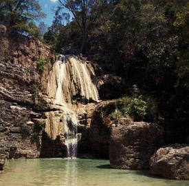 La cascada Anosiampela