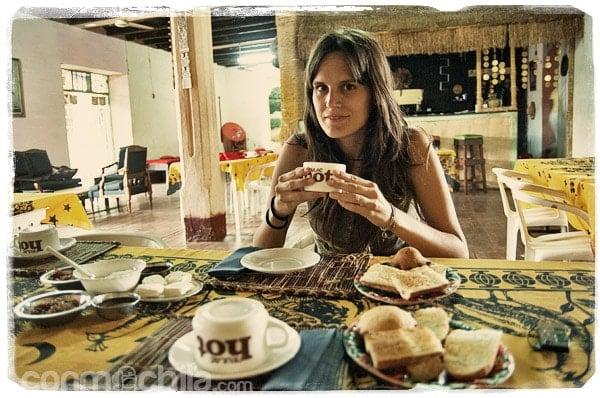 El desayuno en el hotel de Miandrivazo