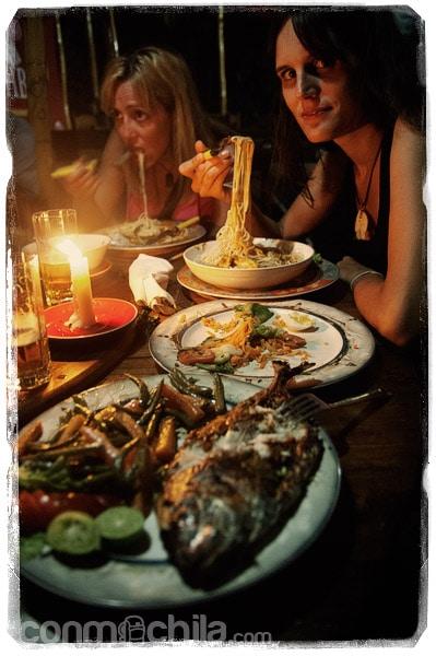 Deliciosa cena en L'Oasis