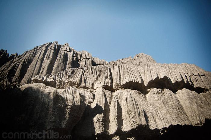 Algunas de las paredes del Tsingy