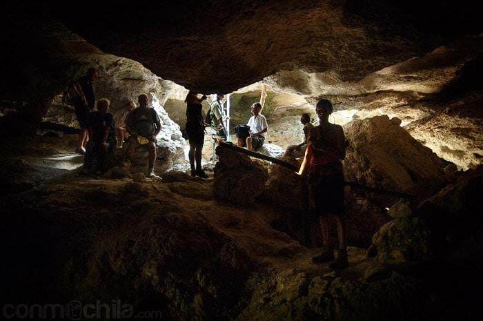 Una de las grutas