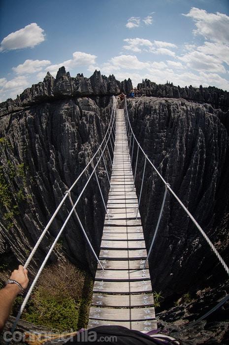 Primer plano de las vistas del puente