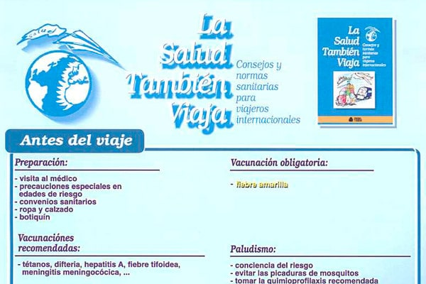 Vacunas y consejos para viajes
