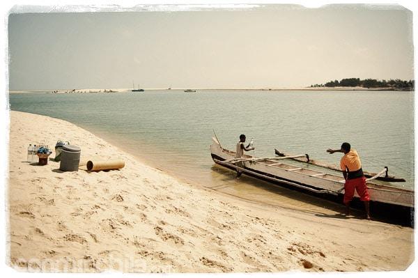 La llegada a la hermosa playa de Betania
