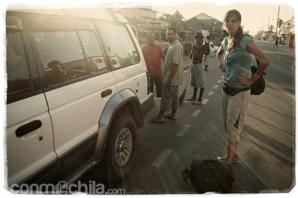 Con el 4x4 que nos llevaría a Antsirabe