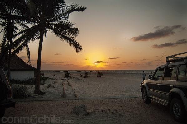 Puesta de sol en Morondava