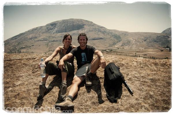 Foto de rigor en lo alto de las rocas
