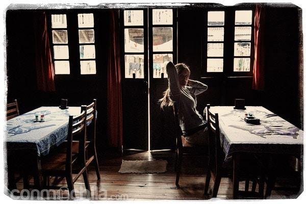 El solitario restaurante...