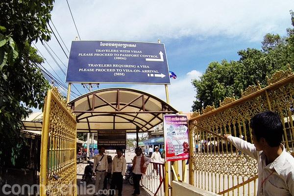 Entrada a la zona de Camboya de tramitación de visados