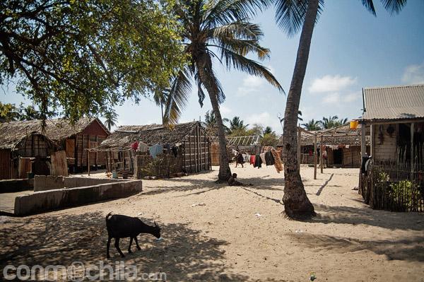 La entrada a la aldea de pescadores