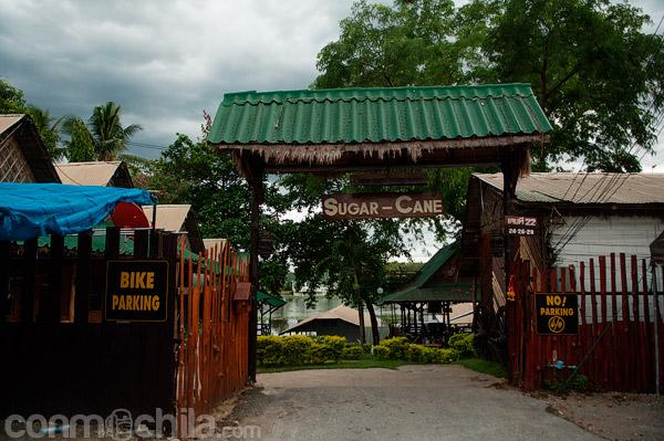 La entrada a la Sugar Cane guesthouse