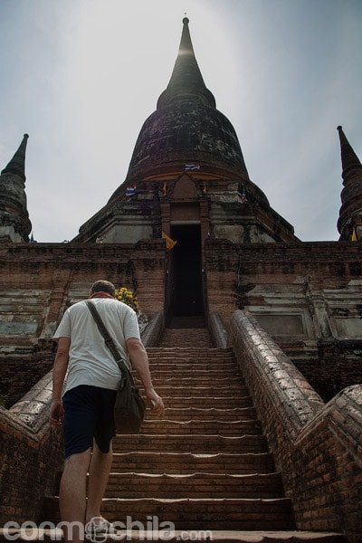 Subida a la estupa