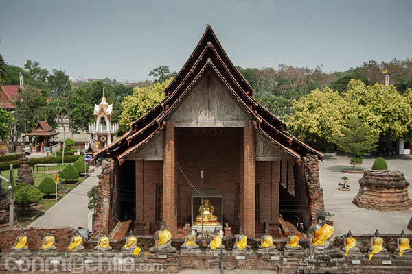 El monasterio desde arriba de la estupa