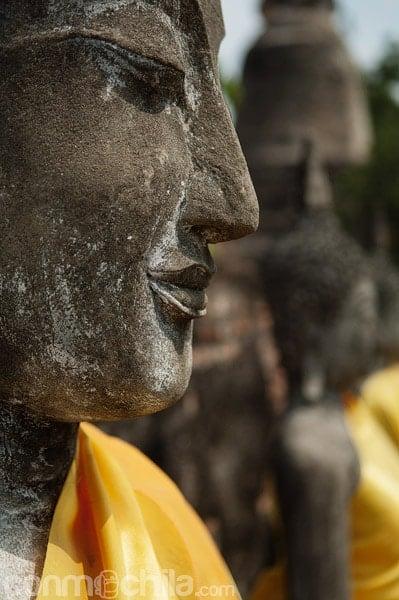 Detalle de la cara de Buda
