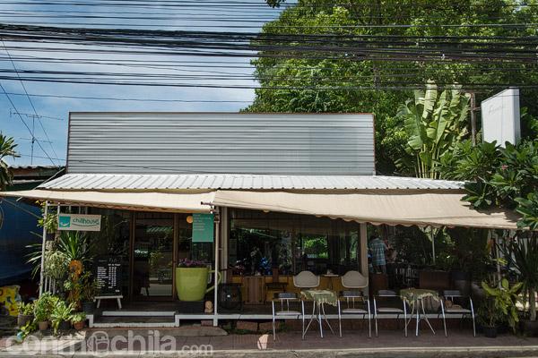 La cafetería Chillhouse café vista desde la calle