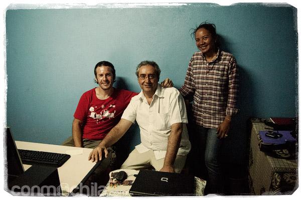 Julián y Toni junto con Llilly