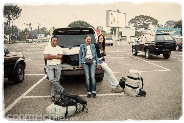 Con Lilly y Ribo en el aeropuerto