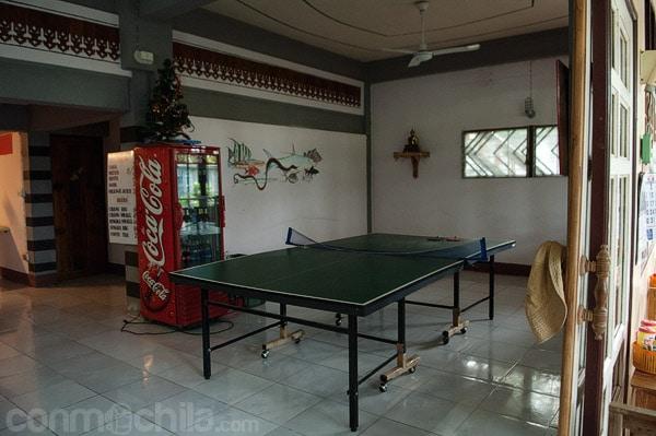 Para jugar al ping-pong