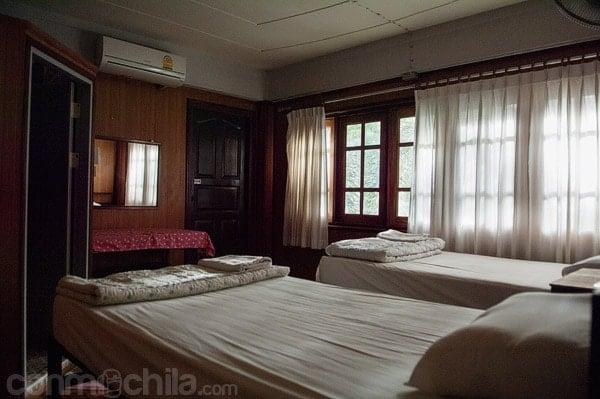 Interior de una de las habitaciones