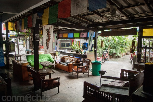 Hall de bienvenida de la guesthouse