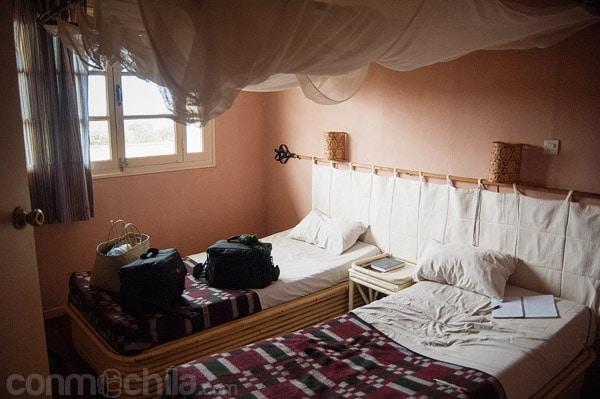 La habitación con su mosquitera