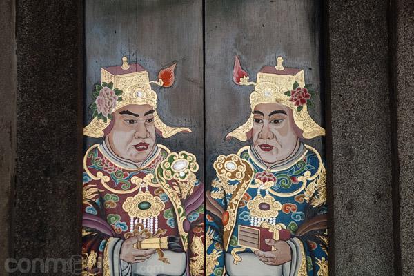 Pinturas en unas puertas