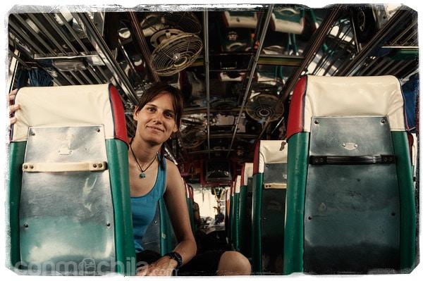 En el autobús rumbo a nuestro nuevo destino