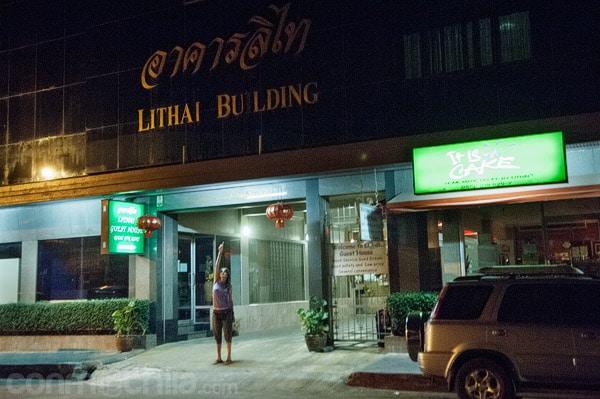 La entrada a Lithai guesthouse