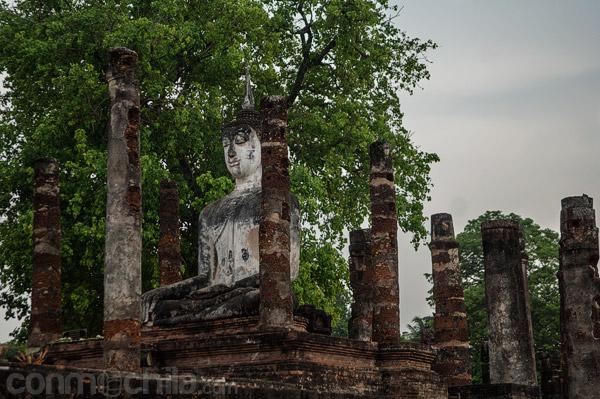Otra vista de la gran imagen de Buda