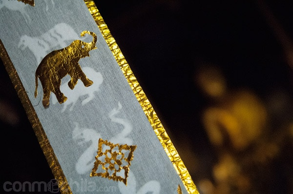 Detalles de elefantes, el animal emblema de Tailandia