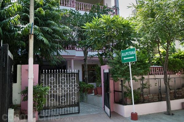 Entrada a Rajputana guesthouse