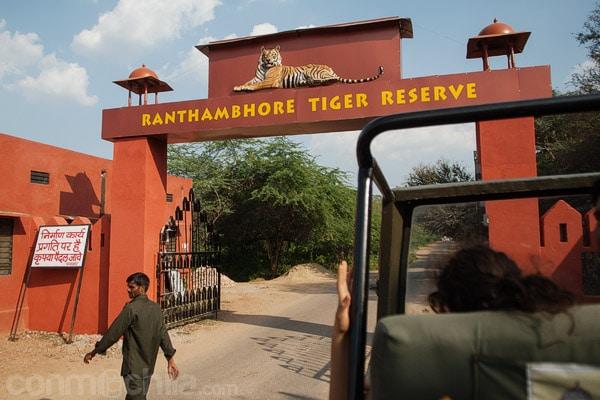 Entrada a la reserva de tigres de Ranthambhore