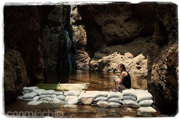 Las cascadas con poco agua