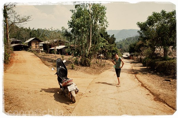 Llegada al poblado